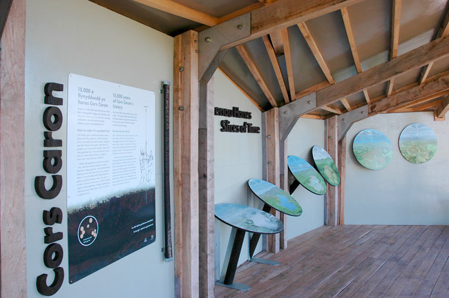 Permanent display at Cors Caron. Client: Countryside Council for Wales.